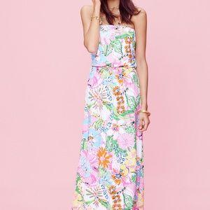 Lily Pulitzer maxi dress strapless